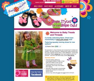 Retail childrens shoe website