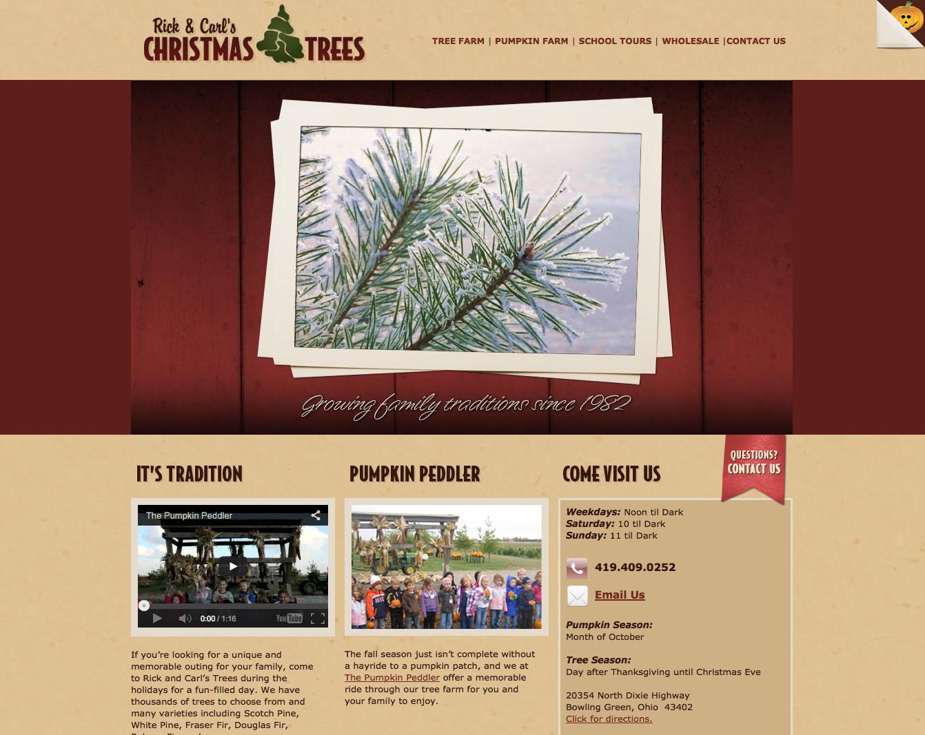website bowling green ohio christmas trees
