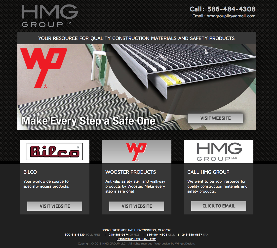 Farmington Michigan Safety Construction Products Website