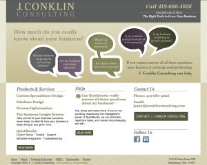 J Conklin Consulting Website Toledo Ohio