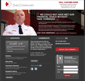 Financial Consultating for Toledo area fire departments website