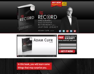 Adam Cufr Off The Record Retirement Website