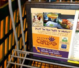 Grocery Cart Advertisement