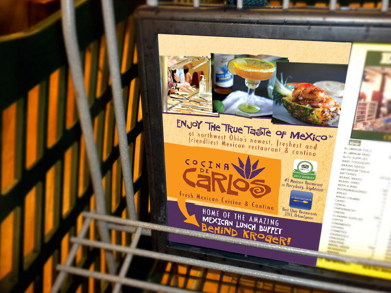 Mexican Restaurant Cart Advertisement