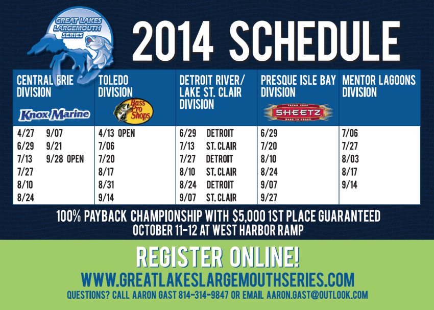 Great Lakes Largemouth Series Schedule
