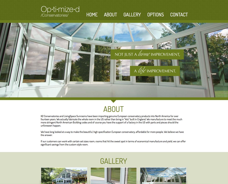 Optimized Conservatories website