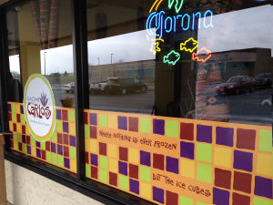 Restaurant window graphics