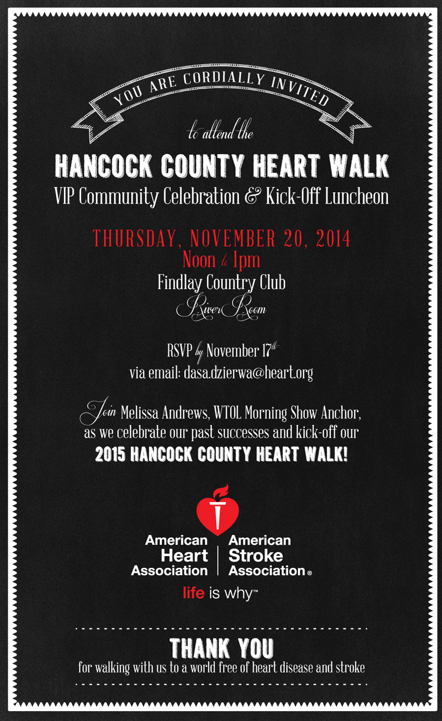 american heart association luncheon invitation