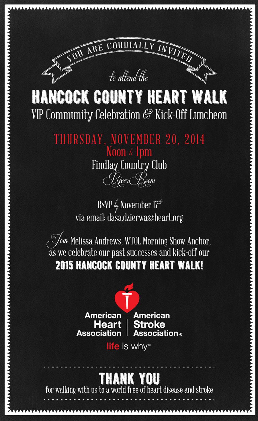 american heart association luncheon invitation