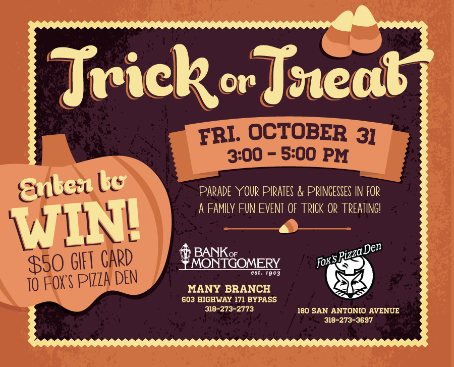 trick or treat bank holiday